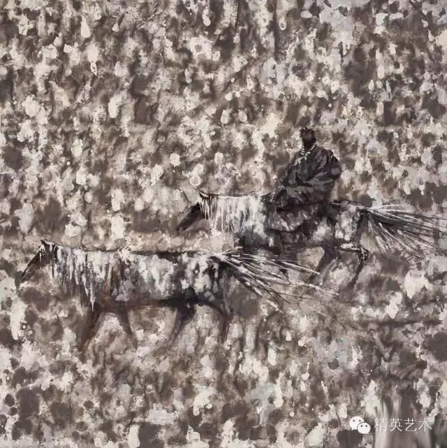 蒙古族版画家 · 国画家塔琳托娅的重彩画作品欣赏 第2张