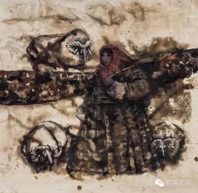 蒙古族版画家 · 国画家塔琳托娅的重彩画作品欣赏20180525_190909_345.jpg