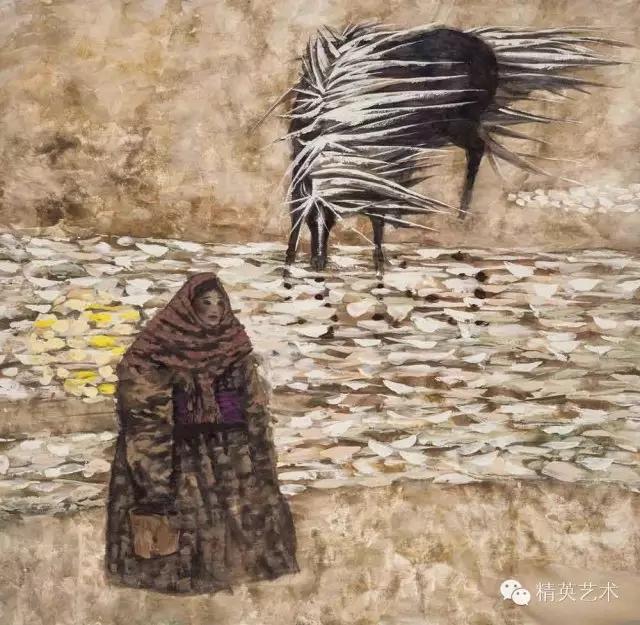 蒙古族版画家 · 国画家塔琳托娅的重彩画作品欣赏 第6张