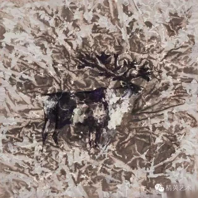 蒙古族版画家 · 国画家塔琳托娅的重彩画作品欣赏 第8张
