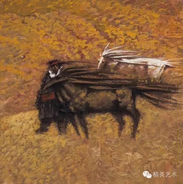 蒙古族版画家 · 国画家塔琳托娅的重彩画作品欣赏 第10张