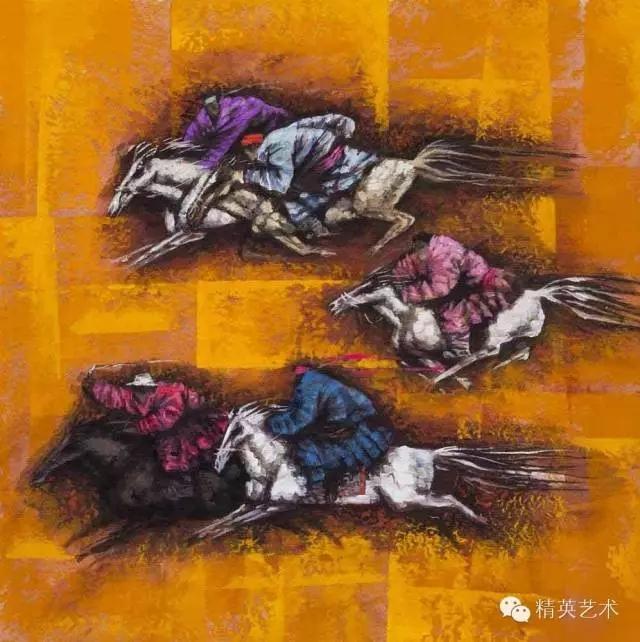 蒙古族版画家 · 国画家塔琳托娅的重彩画作品欣赏 第12张