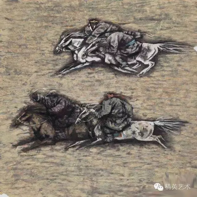蒙古族版画家 · 国画家塔琳托娅的重彩画作品欣赏 第14张