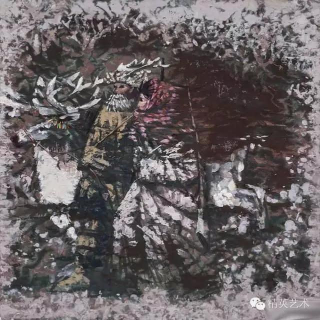 蒙古族版画家 · 国画家塔琳托娅的重彩画作品欣赏 第18张