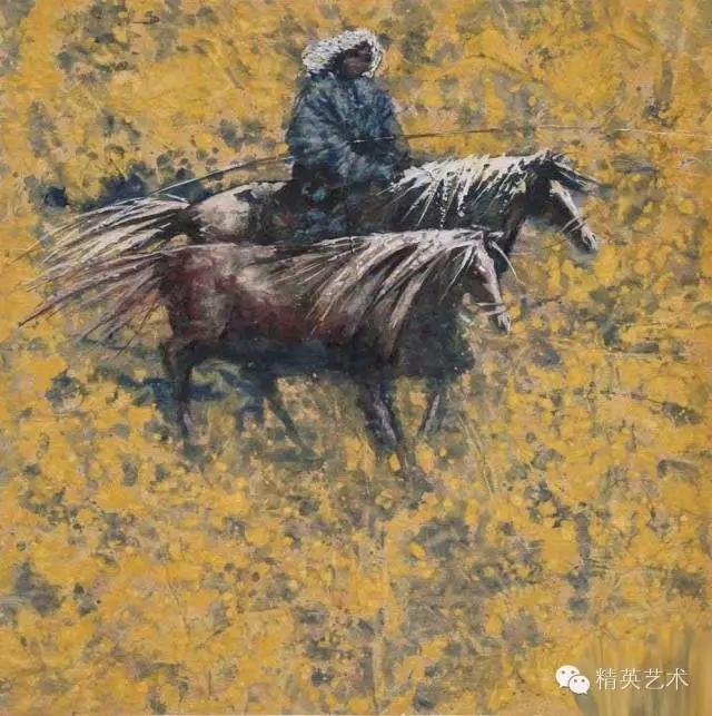 蒙古族版画家 · 国画家塔琳托娅的重彩画作品欣赏 第16张