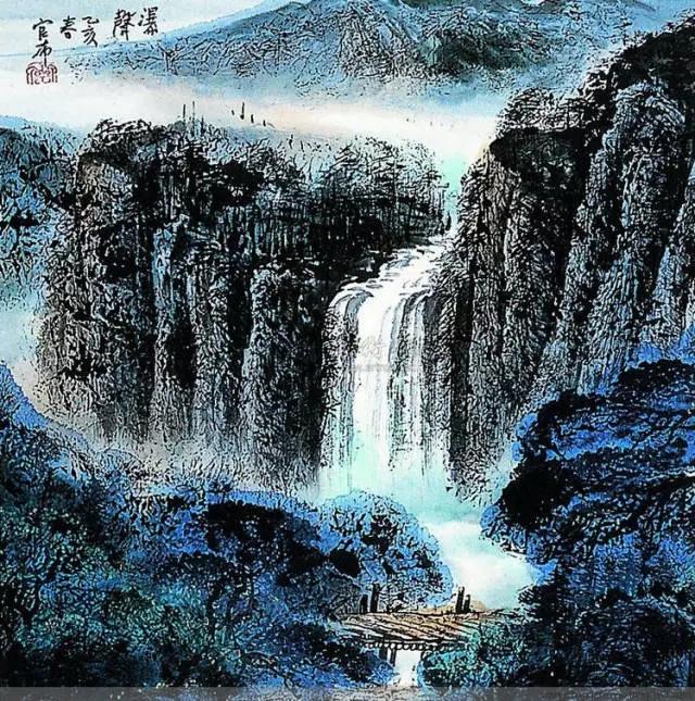 蒙古族画家官布山水作品欣赏 第2张