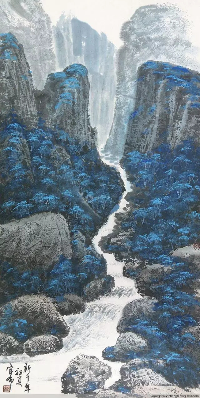 蒙古族画家官布山水作品欣赏 第8张