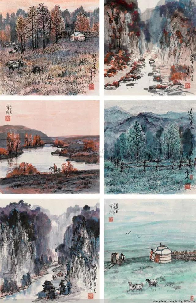 蒙古族画家官布山水作品欣赏20180525_191340_366.jpg