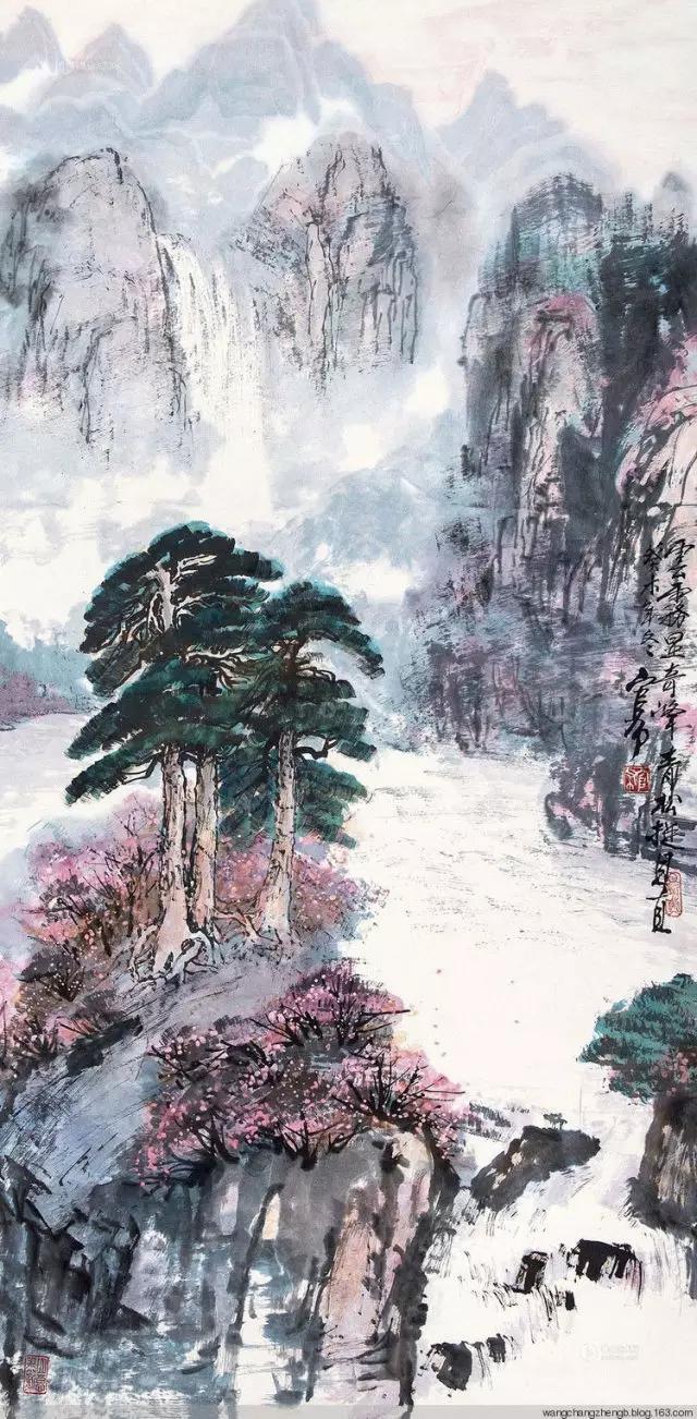 蒙古族画家官布山水作品欣赏 第10张