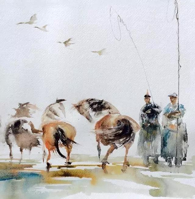 寻找天边的记忆:旅美蒙古族百杰画家·郝毅强作品展 第1张