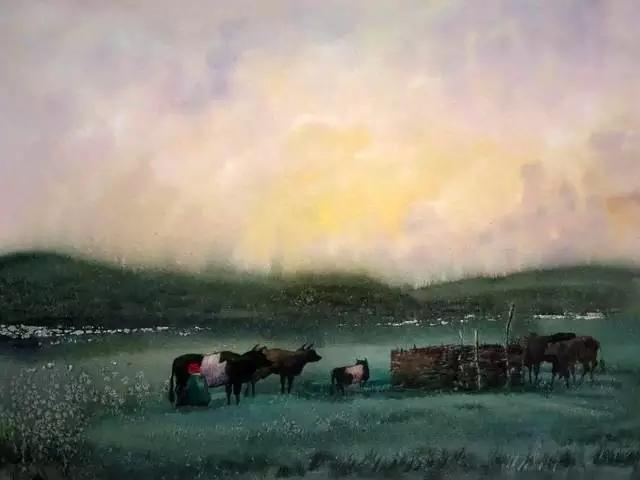寻找天边的记忆:旅美蒙古族百杰画家·郝毅强作品展 第2张