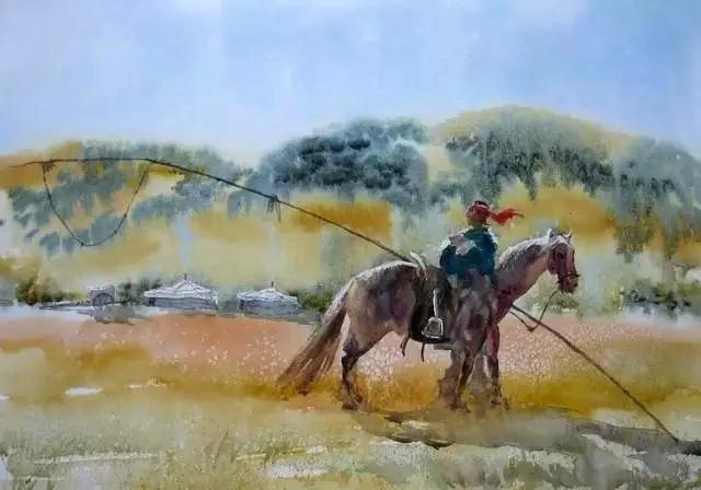 寻找天边的记忆:旅美蒙古族百杰画家·郝毅强作品展 第3张