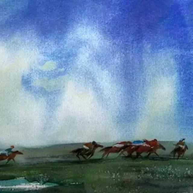 寻找天边的记忆:旅美蒙古族百杰画家·郝毅强作品展 第6张