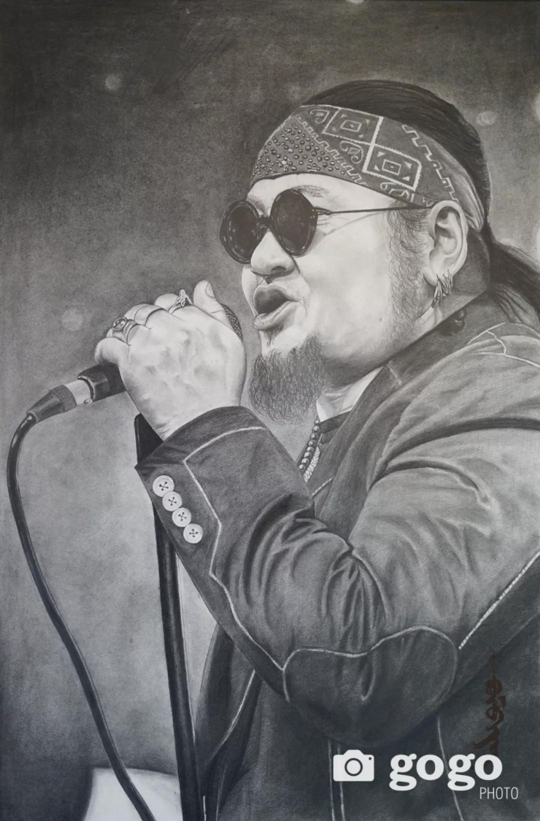 传奇摇滚乐队、流行歌手、艺术家肖像画展在蒙古国开幕 第2张