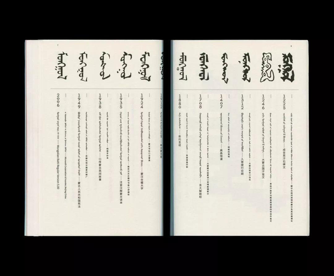 传统蒙古文字型设计文档,感受蒙古文字的美 第17张