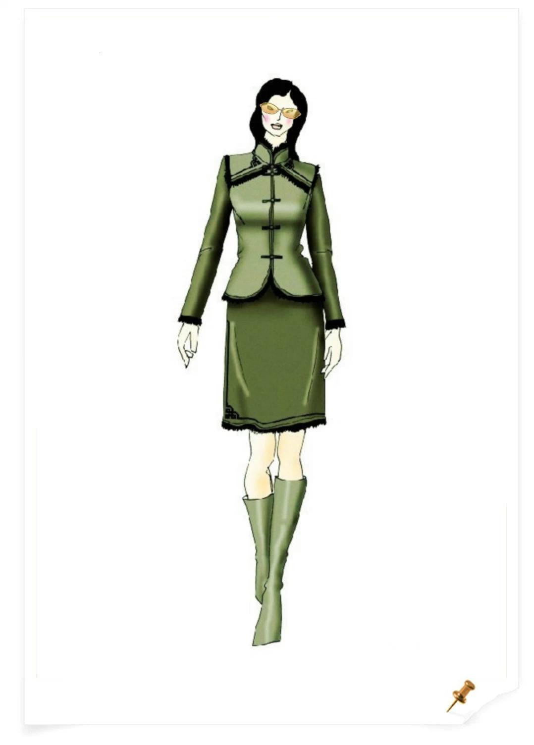【服装美术】蒙古元素服饰设计效果图 第6张