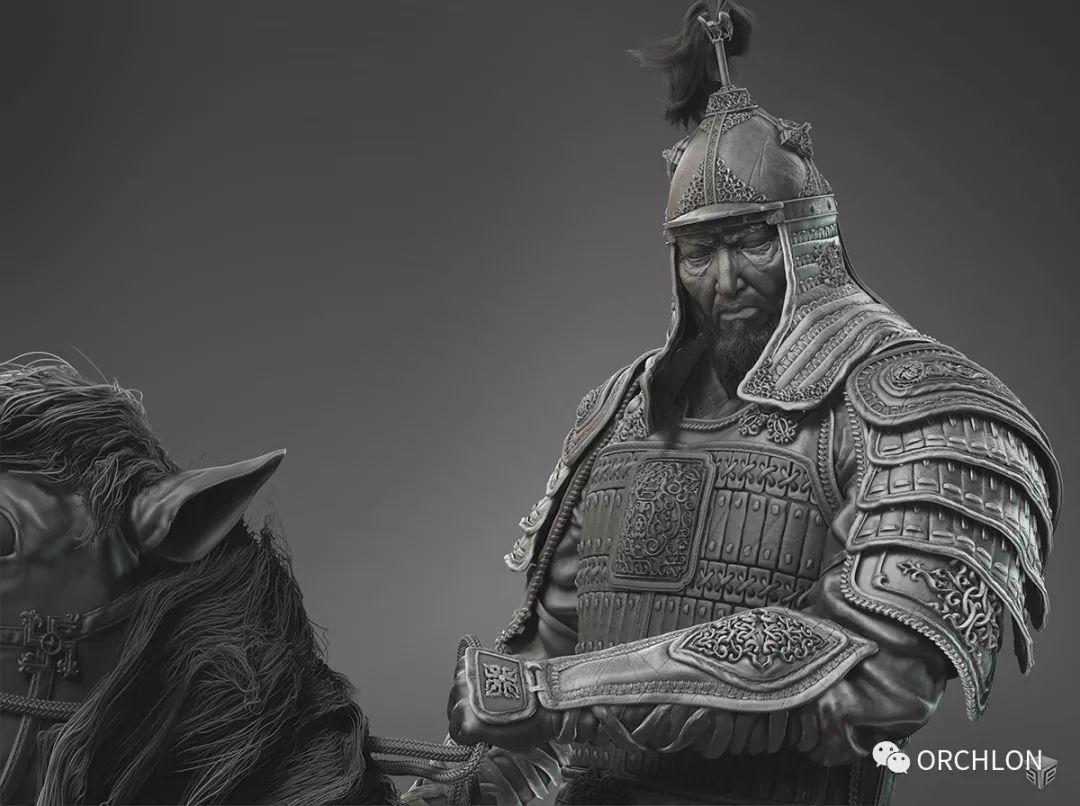 数字雕刻作品|Chinggis Khaan 第4张