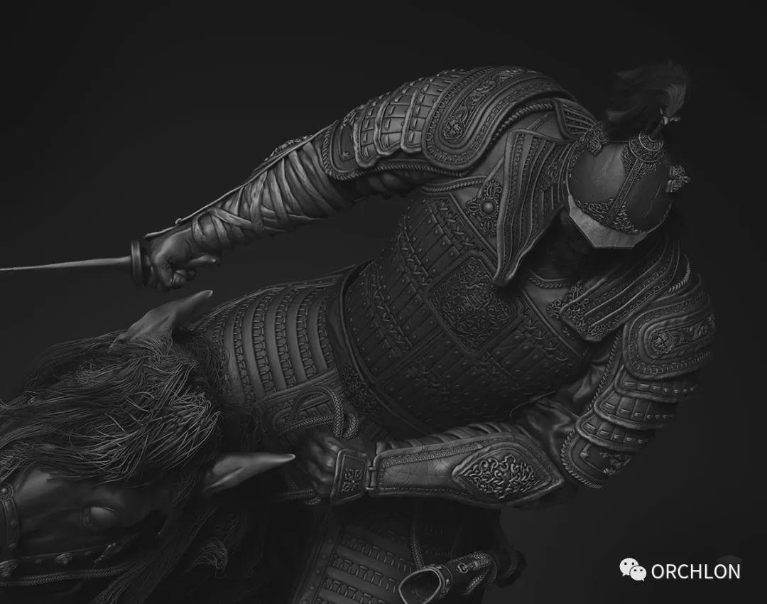 数字雕刻作品|Chinggis Khaan 第6张