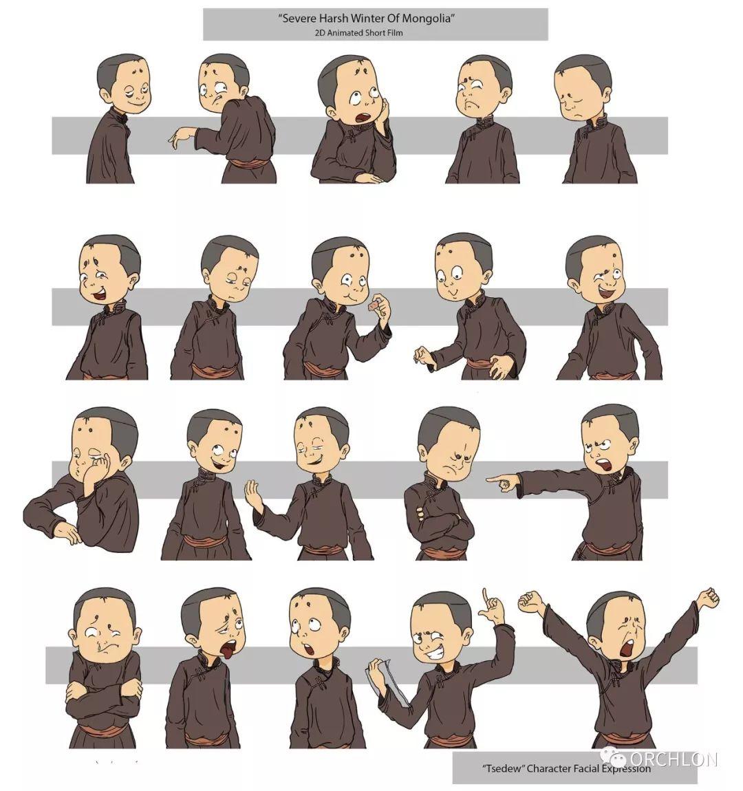 蒙古2D角色设计作品 第3张