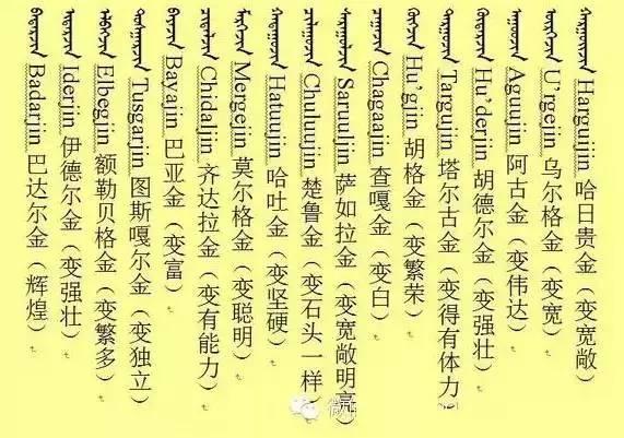 好听的蒙古孩子名字 必须收藏(蒙古文) 第6张