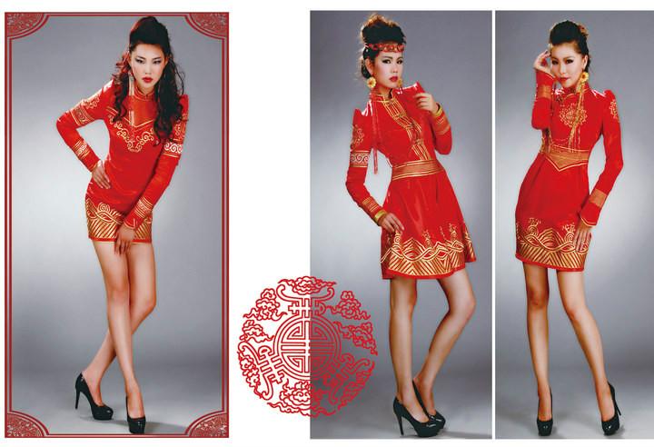 【风彩蒙古】值得借鉴!蒙古风格的时尚服装设计 第2张