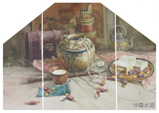 专题:内蒙古水彩师生作品展示 第29张