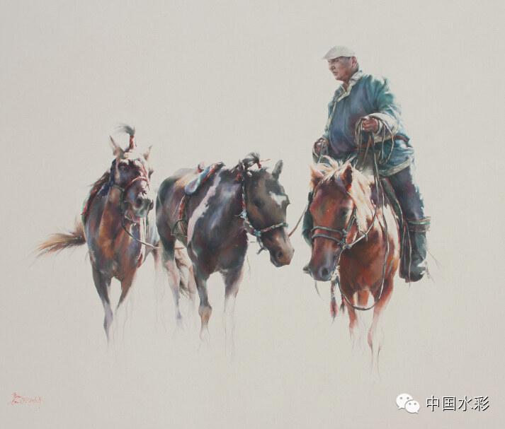 专题:内蒙古水彩师生作品展示 第36张