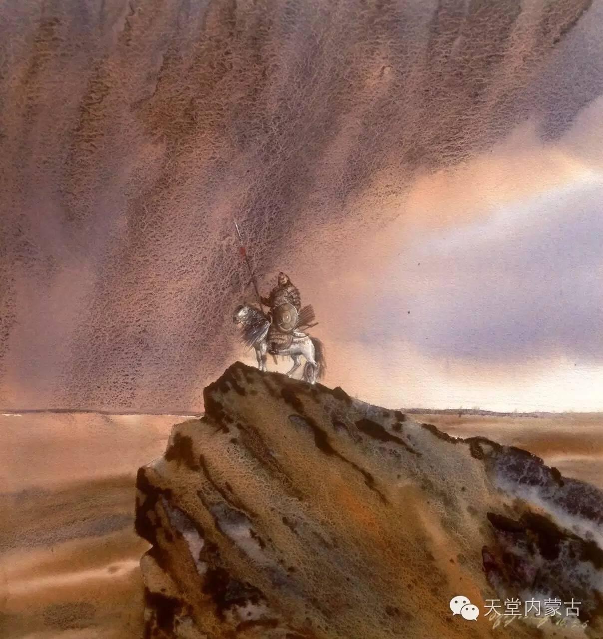 🔴内蒙古青年画家——巴达日呼水彩作品欣赏! 第2张