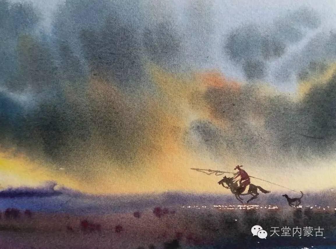 🔴内蒙古青年画家——巴达日呼水彩作品欣赏! 第6张