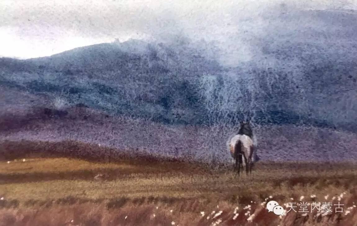 🔴内蒙古青年画家——巴达日呼水彩作品欣赏! 第7张
