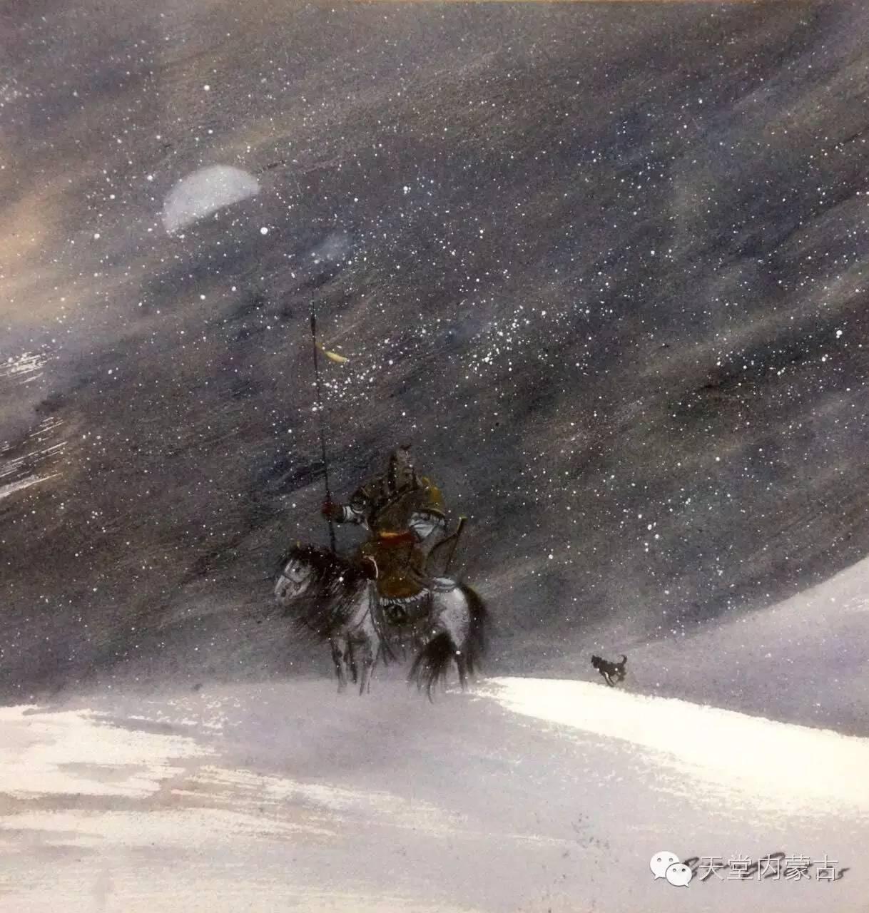 🔴内蒙古青年画家——巴达日呼水彩作品欣赏! 第4张