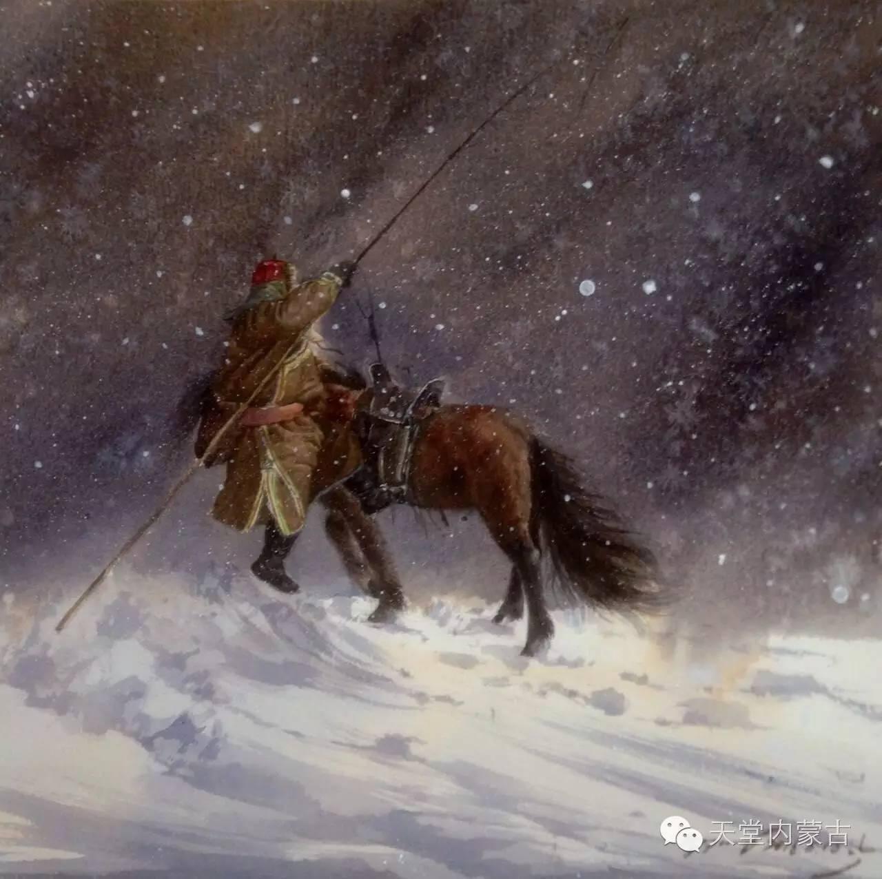 🔴内蒙古青年画家——巴达日呼水彩作品欣赏! 第5张