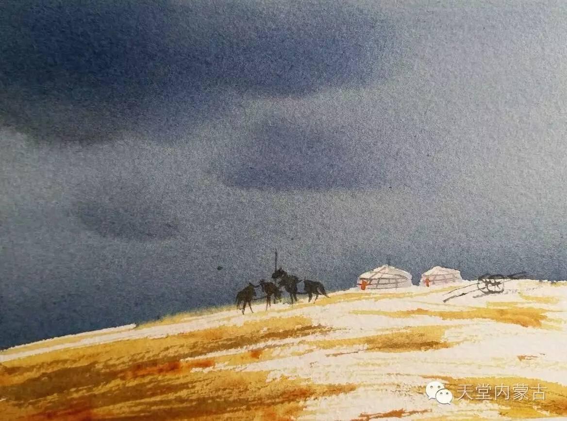 🔴内蒙古青年画家——巴达日呼水彩作品欣赏! 第8张