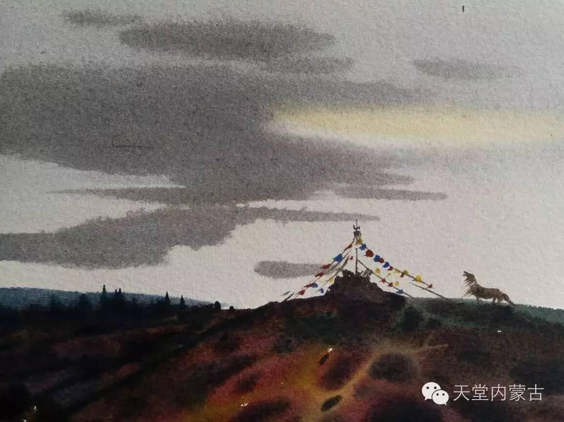 🔴内蒙古青年画家——巴达日呼水彩作品欣赏! 第10张