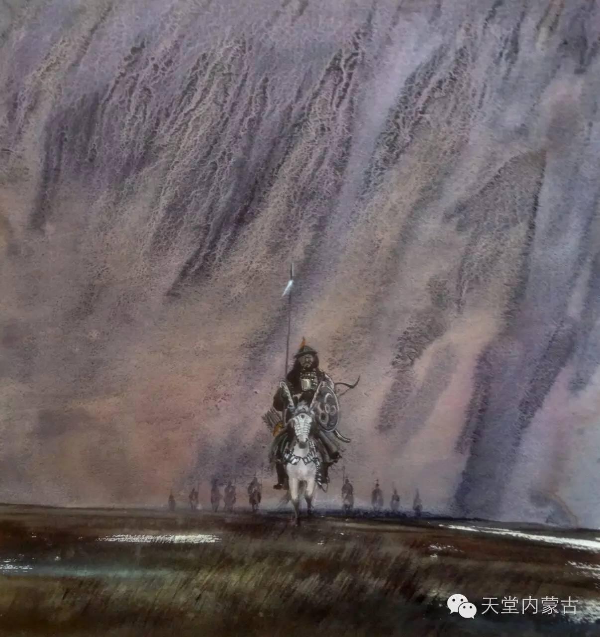 🔴内蒙古青年画家——巴达日呼水彩作品欣赏! 第9张