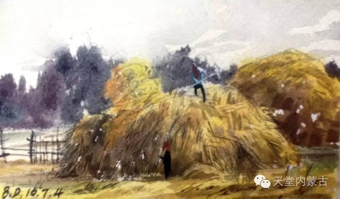 🔴内蒙古青年画家——巴达日呼水彩作品欣赏! 第12张