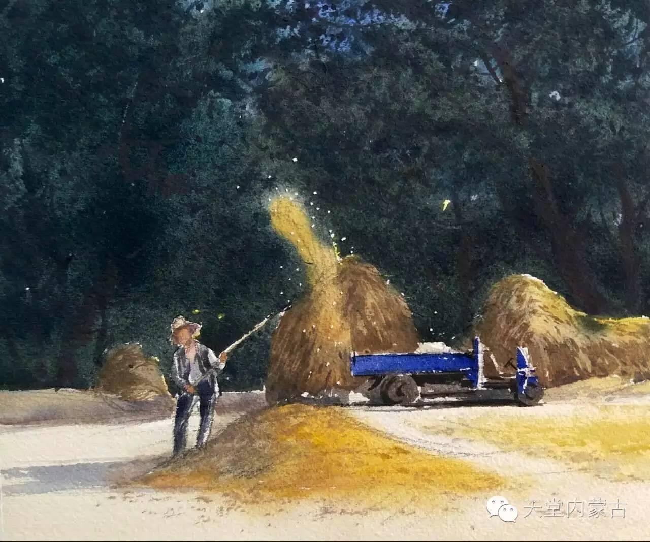 🔴内蒙古青年画家——巴达日呼水彩作品欣赏! 第11张