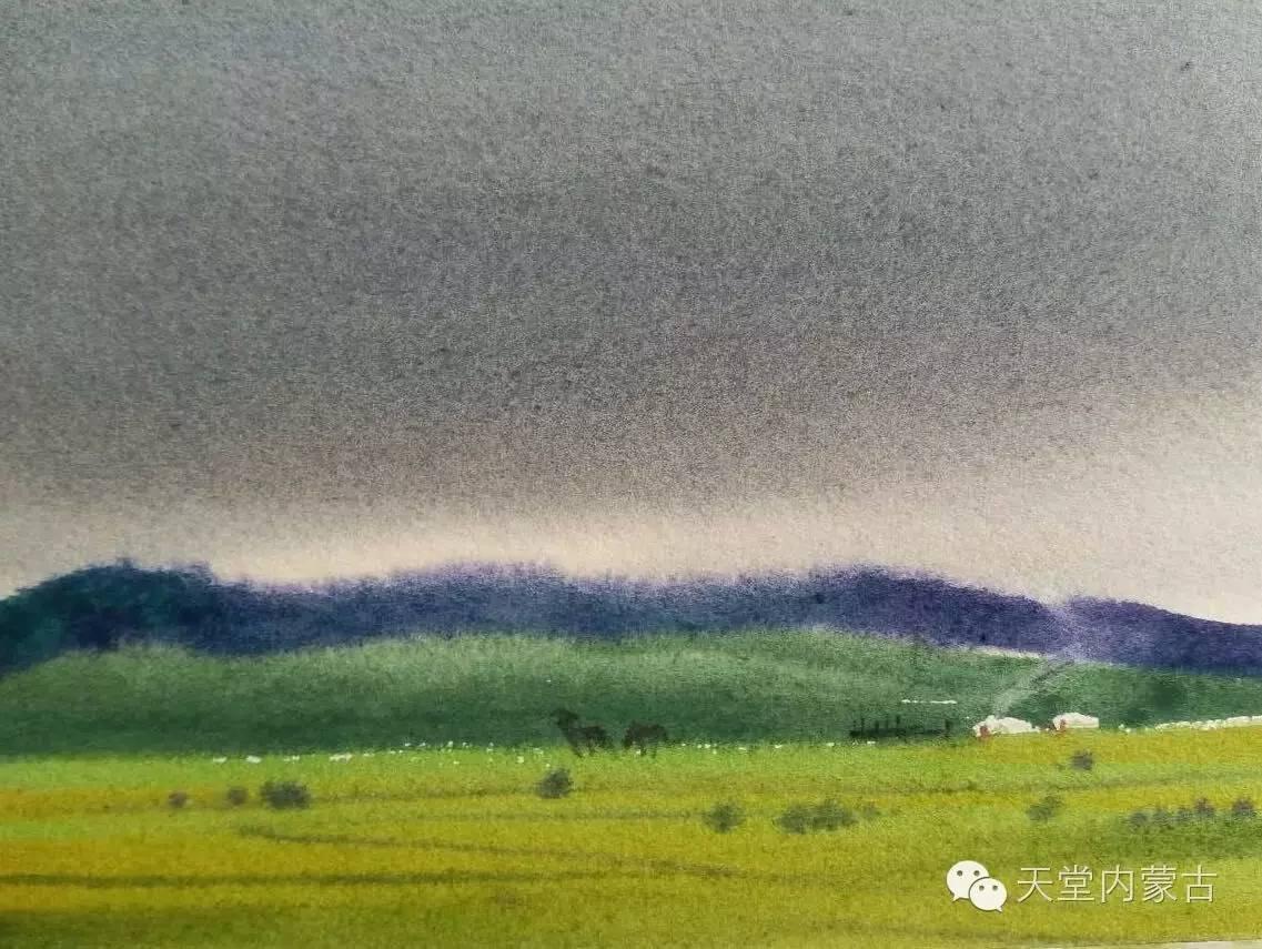 🔴内蒙古青年画家——巴达日呼水彩作品欣赏! 第15张
