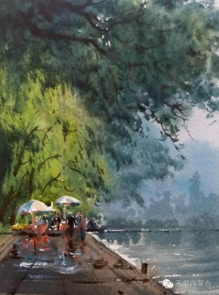 🔴内蒙古青年画家——巴达日呼水彩作品欣赏! 第17张