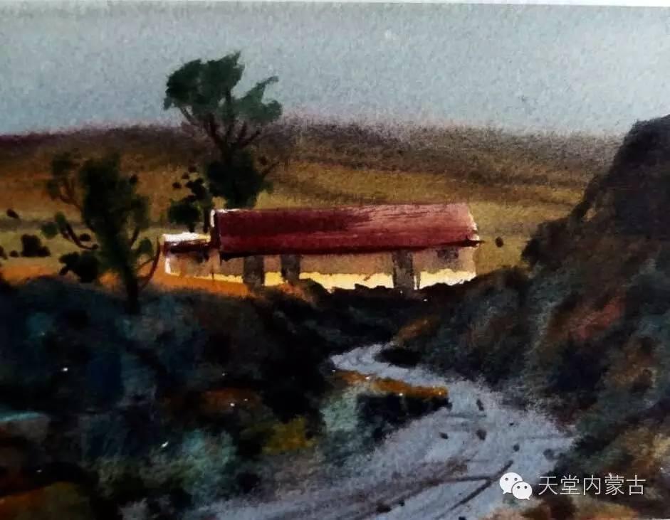 🔴内蒙古青年画家——巴达日呼水彩作品欣赏! 第18张