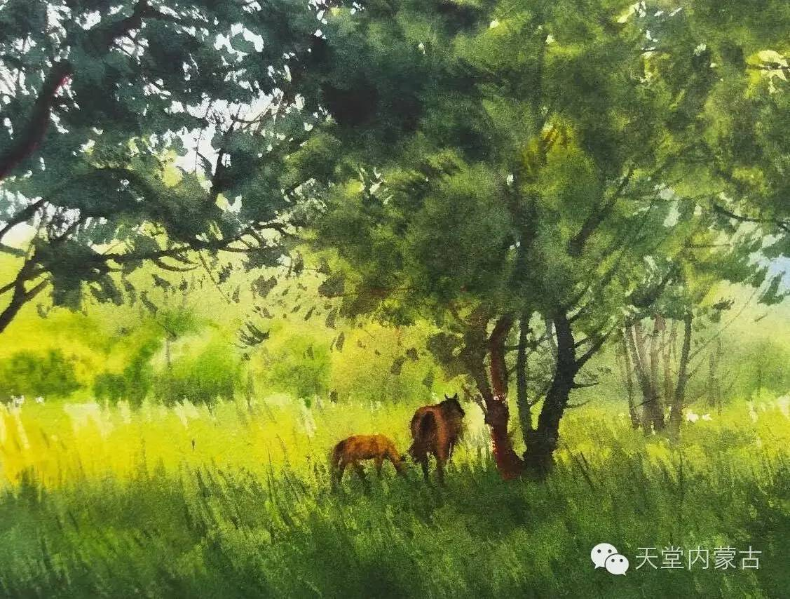 🔴内蒙古青年画家——巴达日呼水彩作品欣赏! 第19张