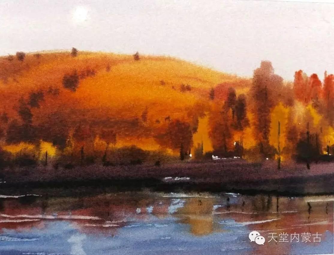 🔴内蒙古青年画家——巴达日呼水彩作品欣赏! 第21张