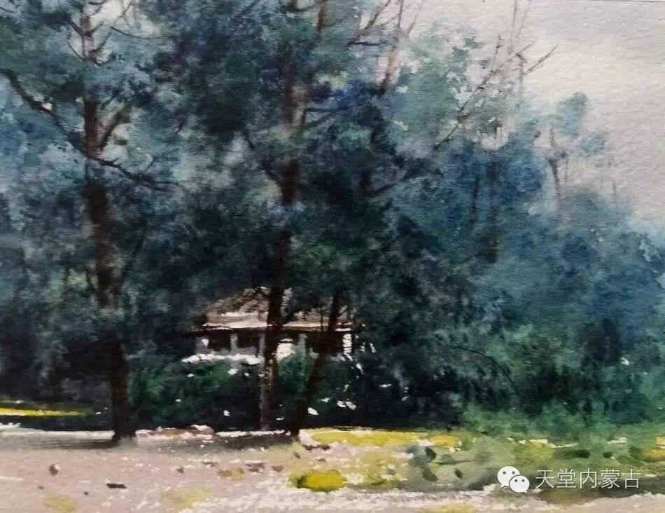 🔴内蒙古青年画家——巴达日呼水彩作品欣赏! 第24张