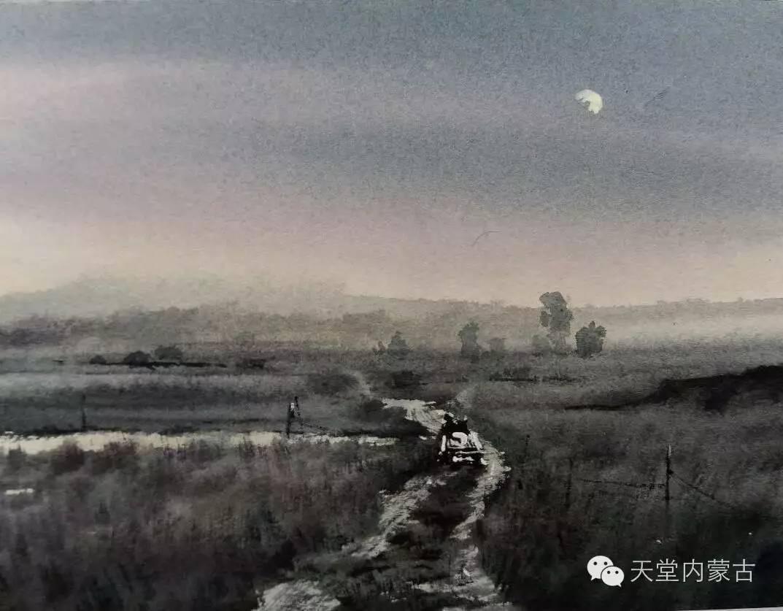 🔴内蒙古青年画家——巴达日呼水彩作品欣赏! 第26张