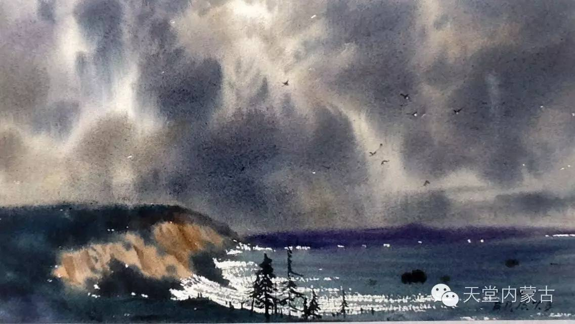 🔴内蒙古青年画家——巴达日呼水彩作品欣赏! 第23张