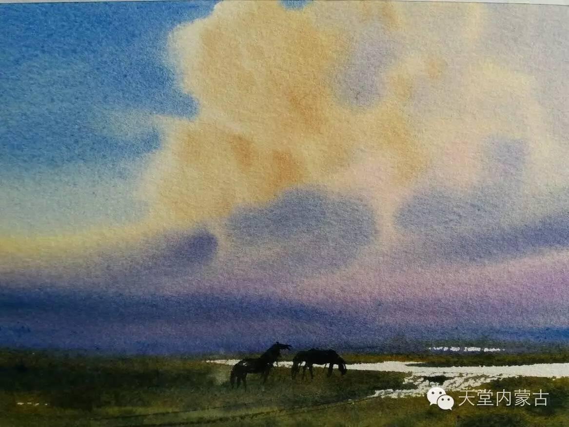 🔴内蒙古青年画家——巴达日呼水彩作品欣赏! 第25张