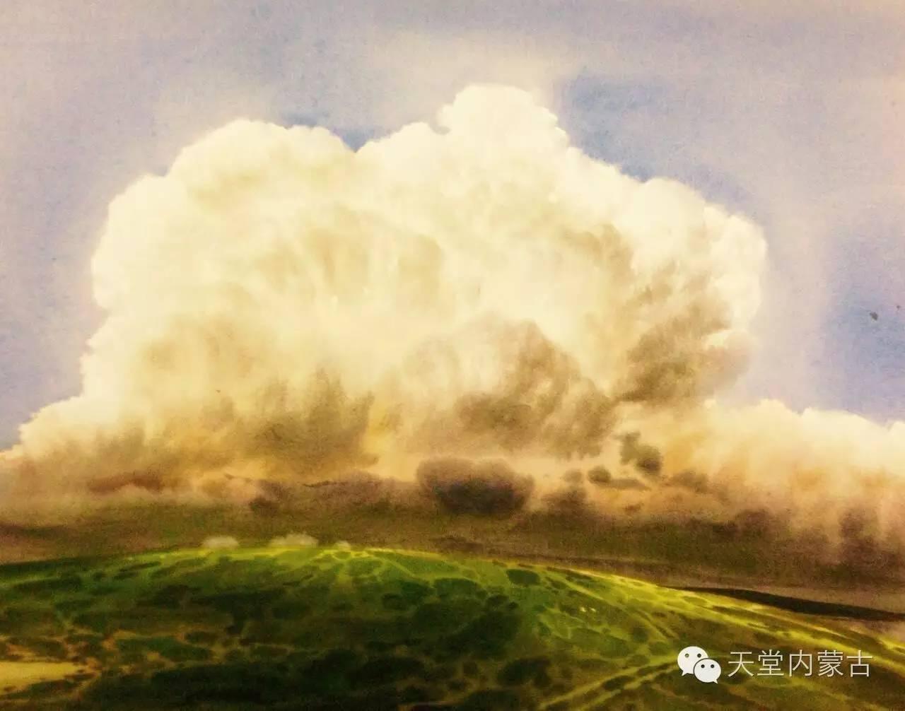 🔴内蒙古青年画家——巴达日呼水彩作品欣赏! 第27张