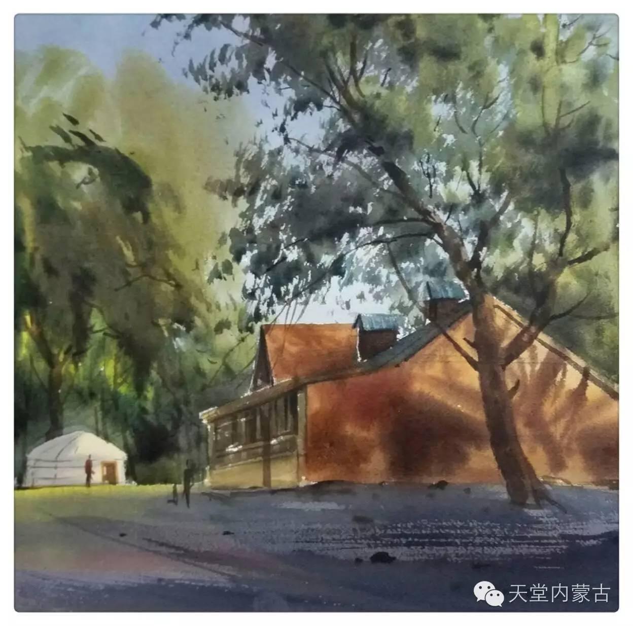 🔴内蒙古青年画家——巴达日呼水彩作品欣赏! 第30张