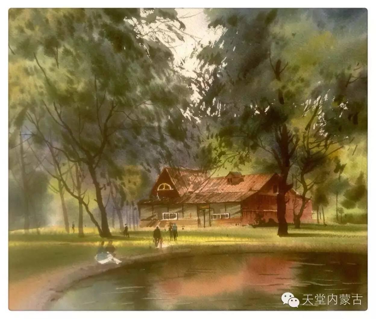 🔴内蒙古青年画家——巴达日呼水彩作品欣赏! 第28张