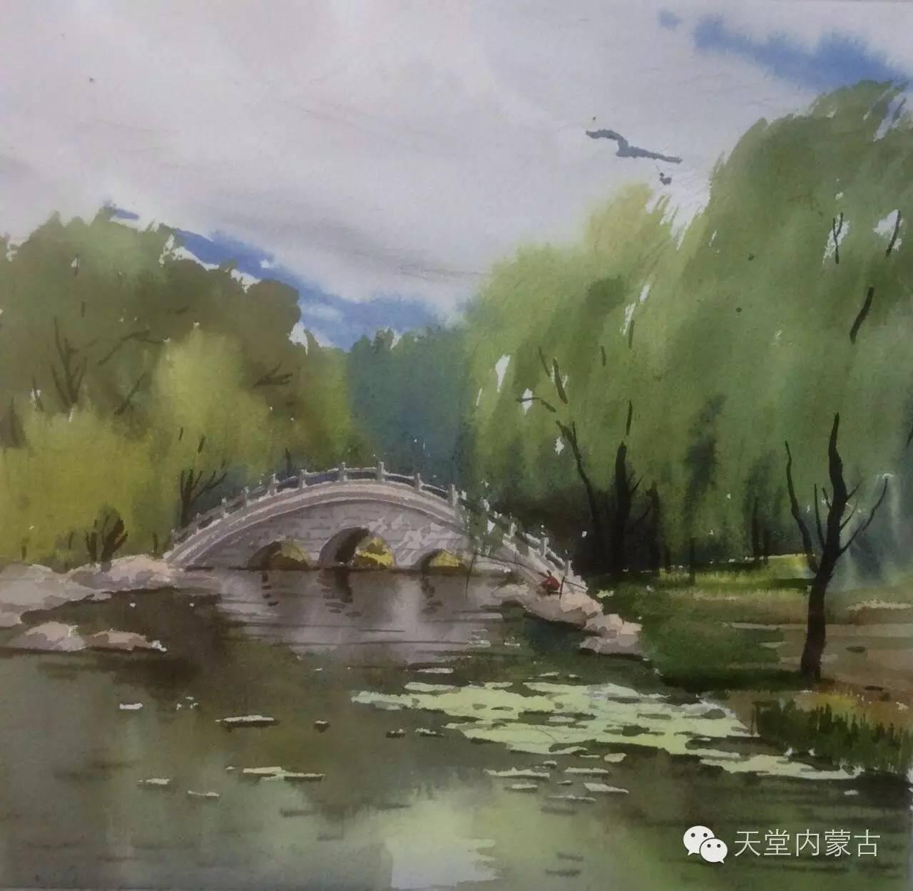 🔴内蒙古青年画家——巴达日呼水彩作品欣赏! 第31张
